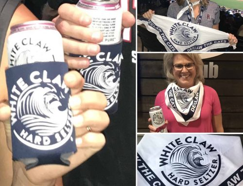 White Claw Bandanas and Koozies