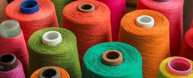 Spools of Embroidery Threads