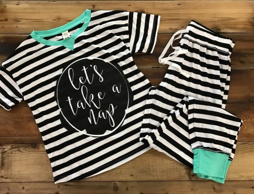 Pajama Set Black & White